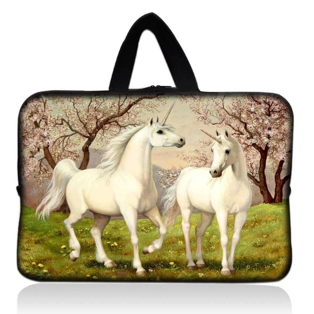 "Unicorns Universal 7"" 7.7"" 8"" Carrying Bag Case Cover Bag Sleeve + Handle for 7"" Samsung Galaxy Tab 2 Tab 3, Ipad Mini,Amazon 2 3 4 Kindle Fire, Touch, Fire HD,Asus Google Nexus 7,LeapFrog LeapPad 2,Asus Memo Pad ME172V,BlackBerry PlayBook,HP Slate 7,Kurio 7,Barnes & Noble NOOK Color,Pendo Pad 7"""