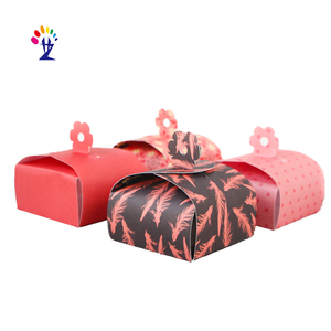 custom small folding paper candy cake box wedding party gift boxes