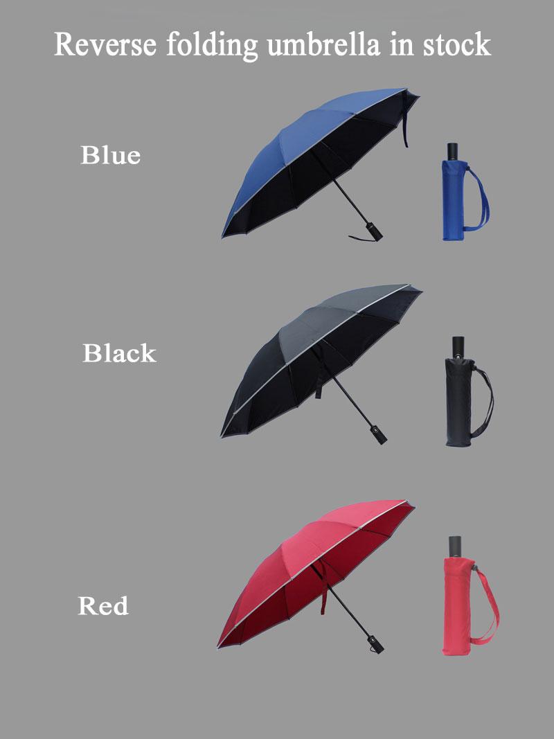 ShenZhen arriba sombrillas sombrilla automática inversa paraguas con impresiones de logotipo