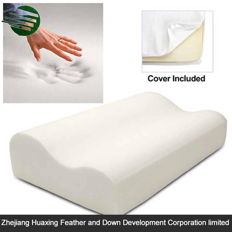 Wholesale Factory Manufacture Widely Used Thin Soft Home Collection Cheap SuperSofa Backrest Cervical Memory Foam Contour Pillow