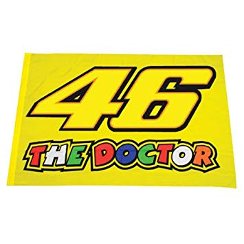 Die Doctor Banner Rally Wanddekoration Valentino Rossi 46 Flagge