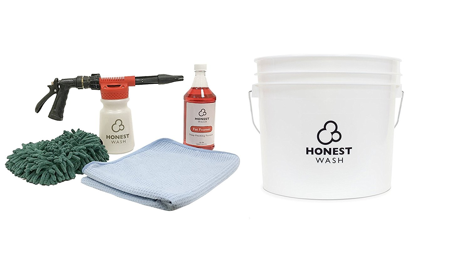 Honest Wash Deluxe Foam Sprayer Kit - Everything You Need to Clean Your Car or Truck - Wash Mitt, Foam Sprayer, Foaming Car Wash Soap, Drying Towel