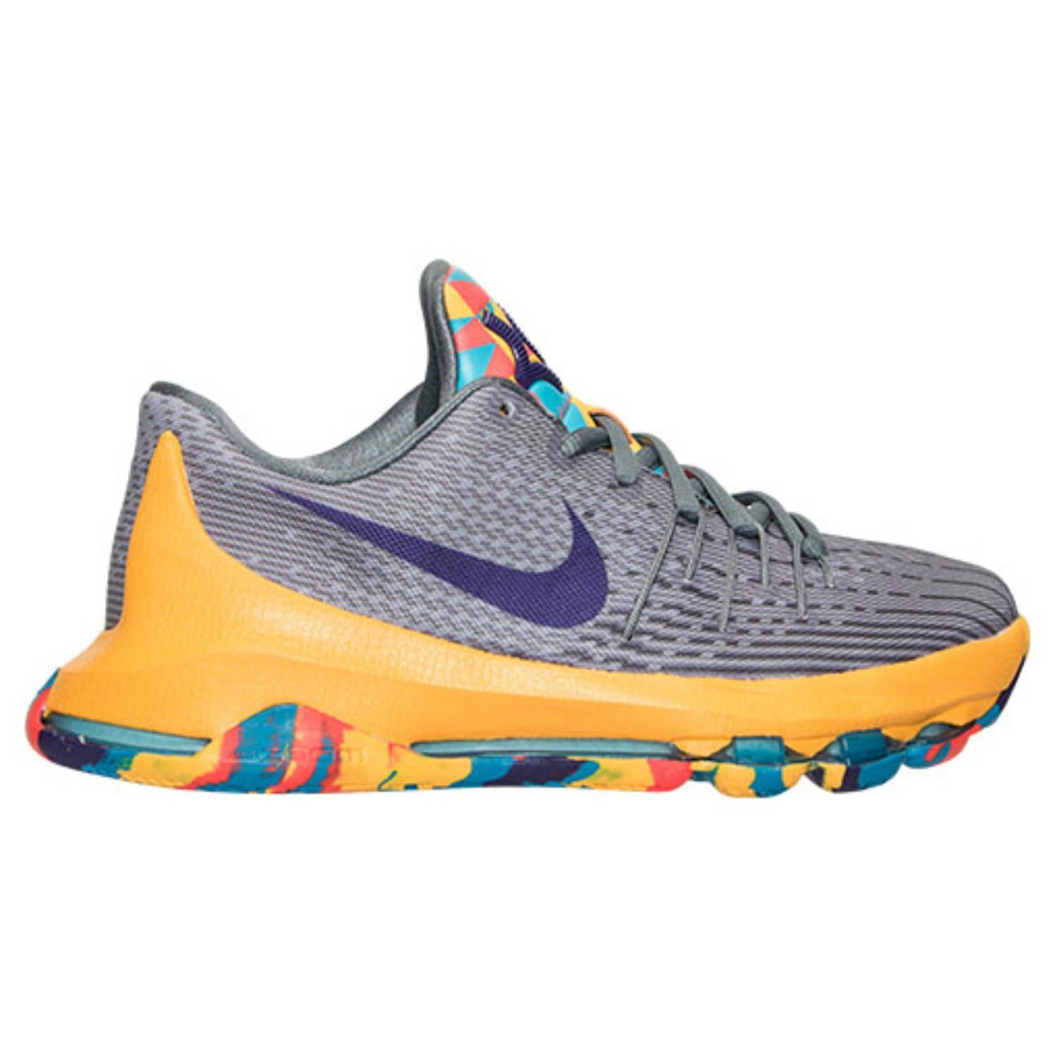 553db4ba6f28 Buy Nike KD 8 (GS) Grey Yellow Kevin Durant Basketball Unisex Youth ...