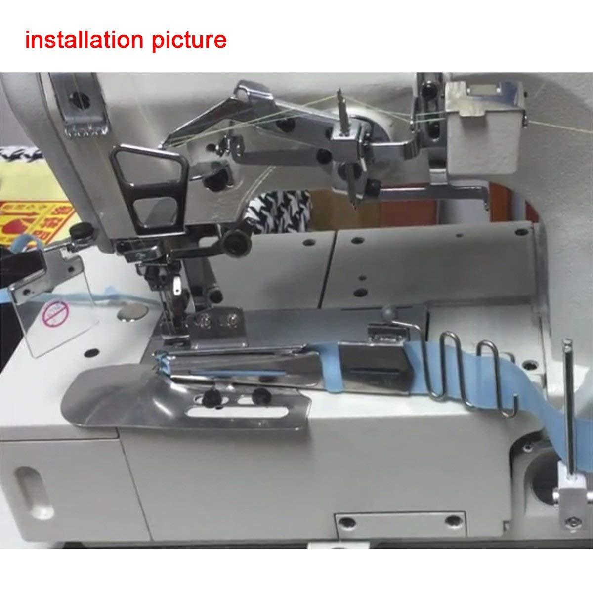 Kunpeng # KP-104 CoverStitch Machine Binder, Double-Fold Binding Attahchment For Flatbed Machine (1-3/4 (44.45mm) CUT;9/16 (14.29mm) FINISH)