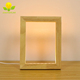 Funny Custom Electric Wooden Led USB 3D Effect Photo Frame, 3D Photo Frame With Led Light