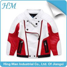 New arrival PU leather jacket for child kids black leater jacket/kids cool motorcycle jacket