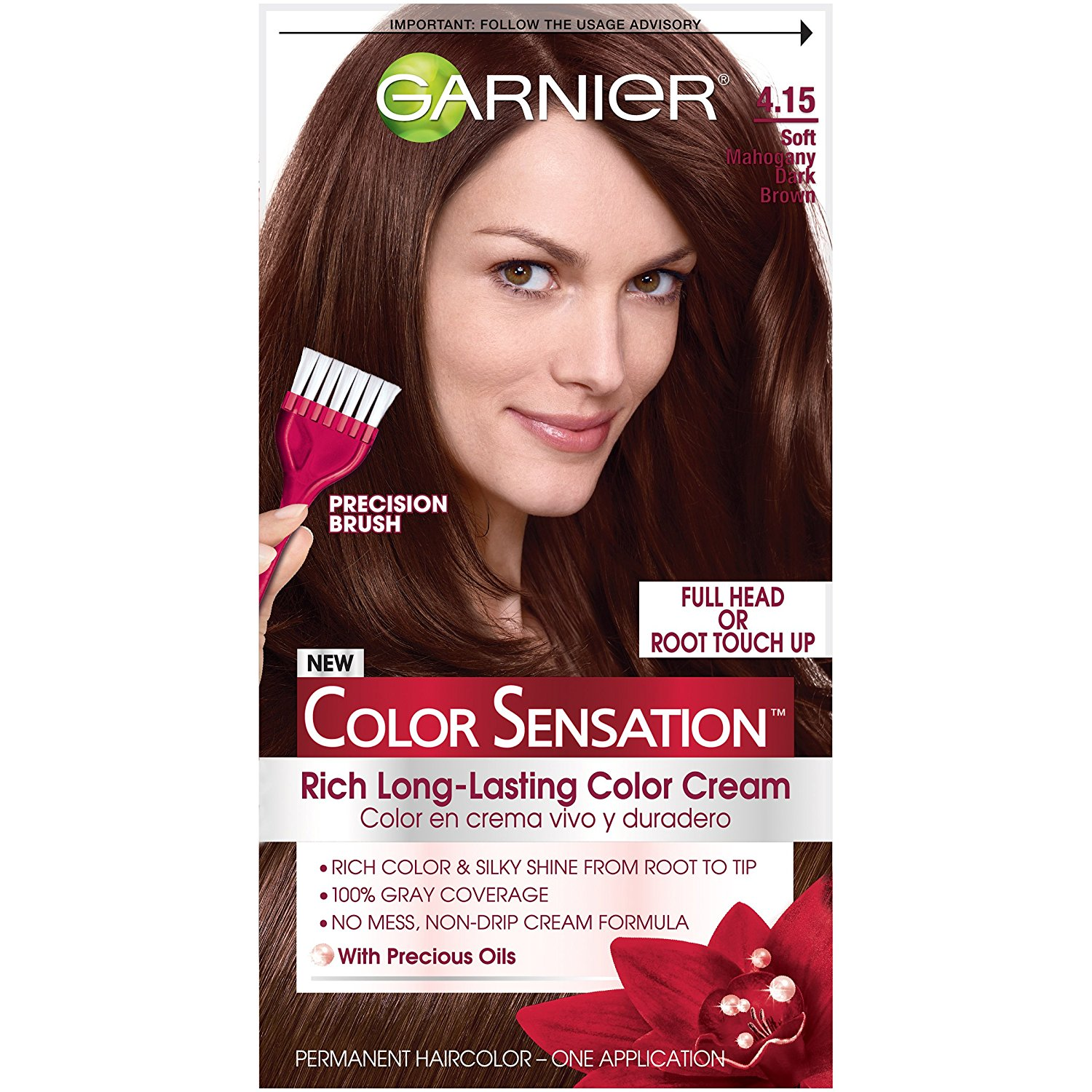Buy Garnier Nutrisse Hair Colouring Cream 415 Ash Mahogany Dark