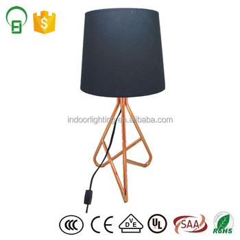 Black Fabric Shade Rose Gold Metal Base Bedside Table Lamp Buy Bedside Table Lamp Metal Table Lamp Fabric Shade Table Lamp Product On Alibaba Com