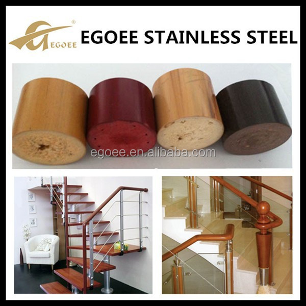 Ronde houten trap balustrade leuning voor buiten en binnen for Houten trap voor buiten