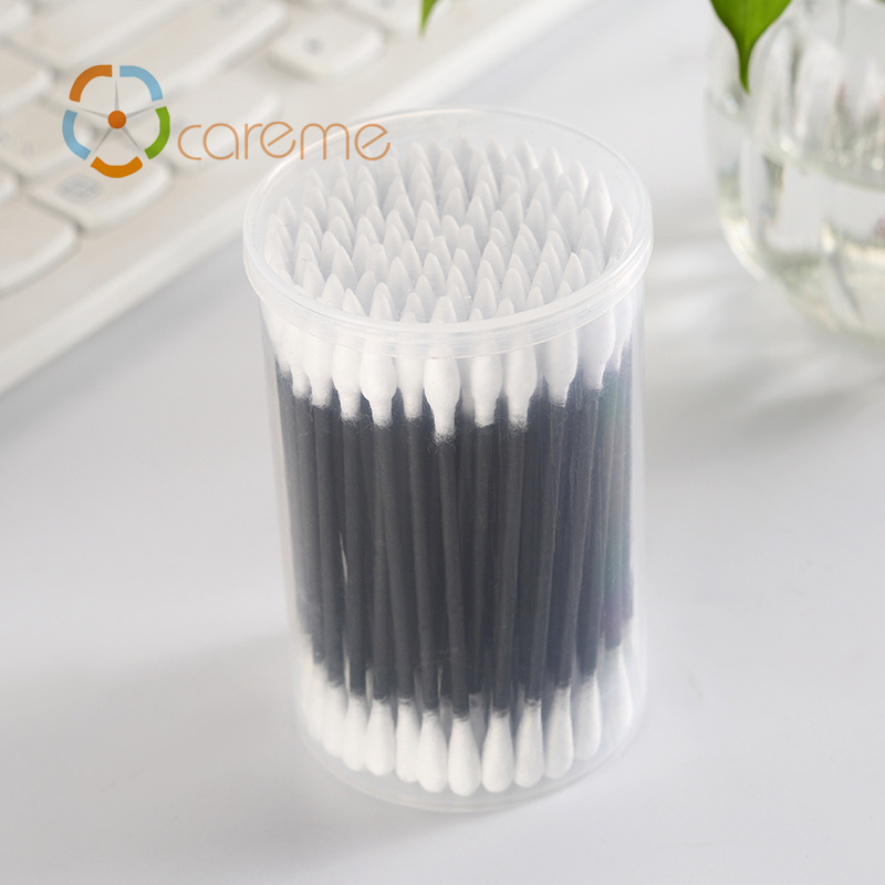 High Quality Black Color Paper Stick Q-Tips Colored Pointed Cotton Swab