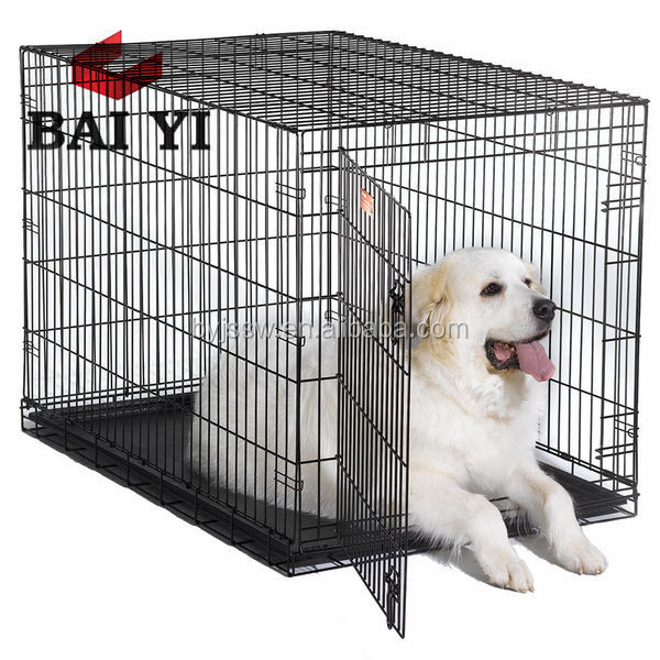 Large 42-Inch Travel Double Door Dog Cage Crate Pet Crates