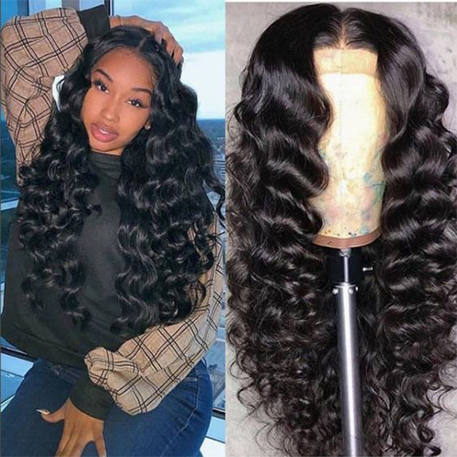 Wholesale Unprocessed 150% Density 100% Virgin Brazilian Human Hair Deep Wave Lace Front Wigs For Black Woman YouTube Hot Wig