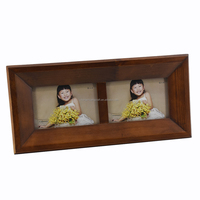 3d deep solid color 2-opening wooden shadow box photo frames