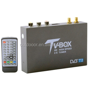China Wholesale cheap DVB-T2 HD High Speed Double Antenna Mobile Digital Car TV Receiver, Support H.264/MPEG2/MPEG4 /120KM/hour