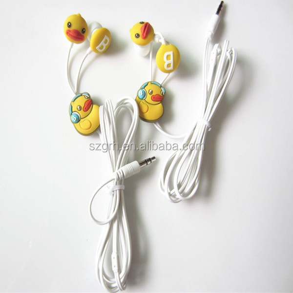 high quality pvc cartoon earphone reel cable for mobile
