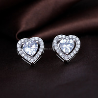 925 sterling silver heart earring with good price