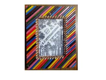 coloured pencil design photo frames buy pencil design photo frames