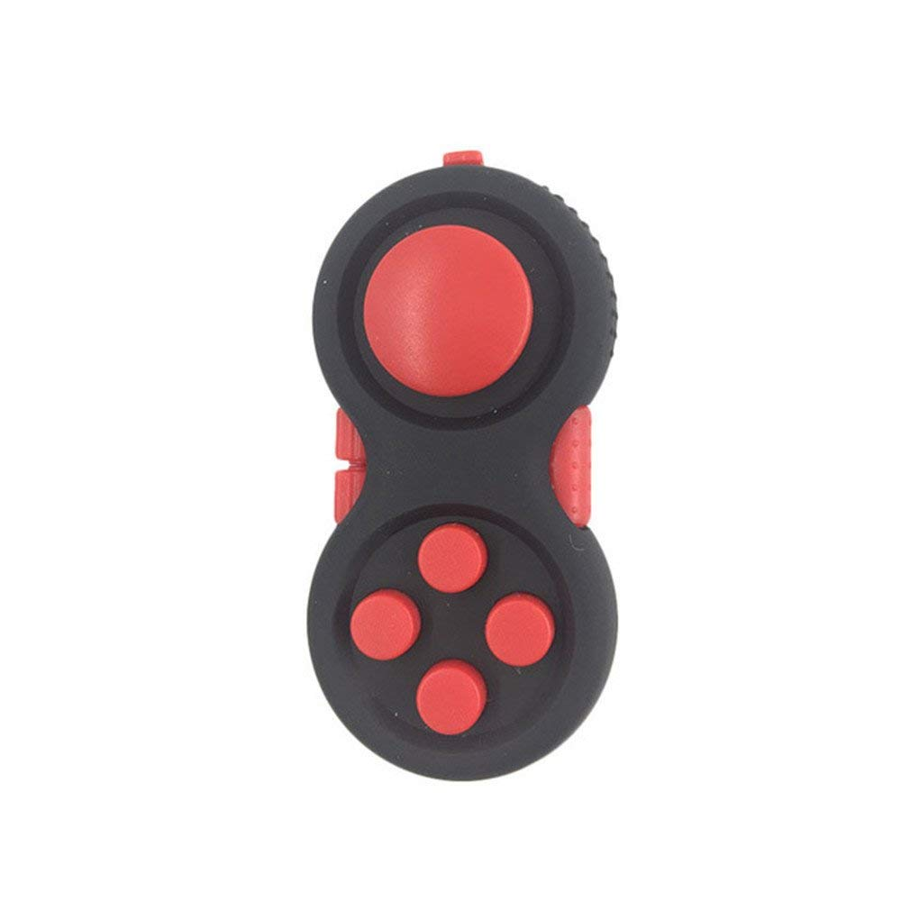 Hmby Fidget Pad, Fidget Toy Anti Anxiety Depression Stress Reducer Hand Pad Fidget Cube for ADD,ADHD,OCD,Anxiety Disorder (Red)