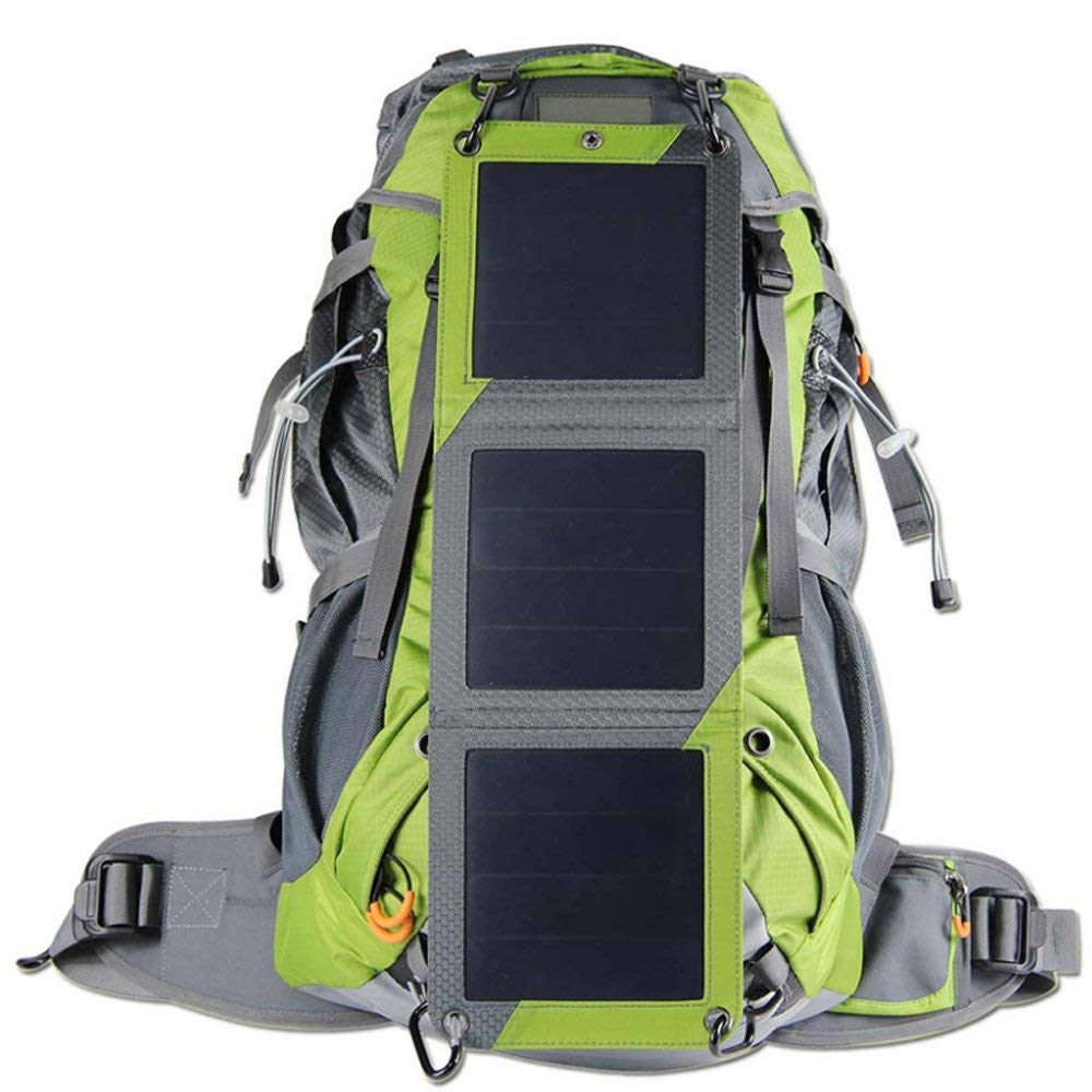 Solar Powered Backpack, Hiking Backpack with Solar panel Charger, Solar Daypack with Water bag for iPhone Samsung Phones for Hiking Camping Hunting and Outdoor