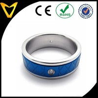 Walmart Supplier Factory Price Latest Womens Mens Ring, 2014 New Luxury Polished Stainless Steel Band