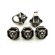 S913 Fashion stainless steel wolf head spacer beads,stainless steel accessory