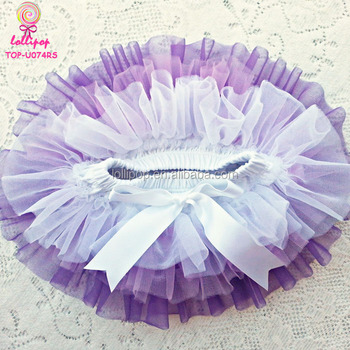 0-6 Years Baby Girls Unicorn Tutu Skirt Bloomer Purple Lavender Pastel Rainbow Chiffon Diaper Cover All Around Ruffle Bloomers