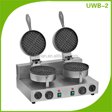 220volts/2.4kw 2- piastra waffle industriale, uovo waffl
