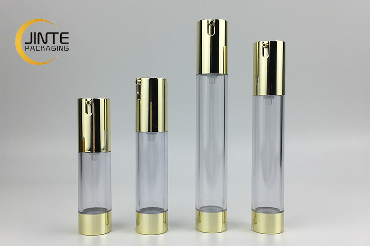 Cosmetic container bottle 15ml 20ml 30ml 35ml slim plastic airless pump bottle for lotion