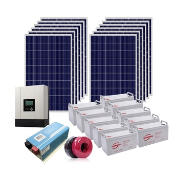 Complete Set 5kW Solar Home Electricity Off Grid System Solar PV System