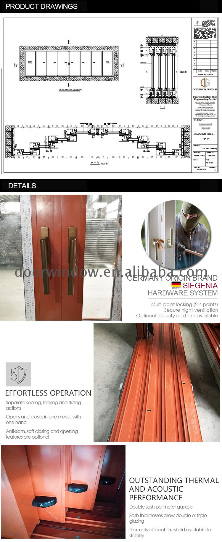 Manufactory direct external garden doors aluminium sliding exterior prices