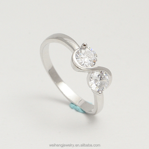 December birthstone jewellery rings 925 sterling silver two stone ring designs for girls