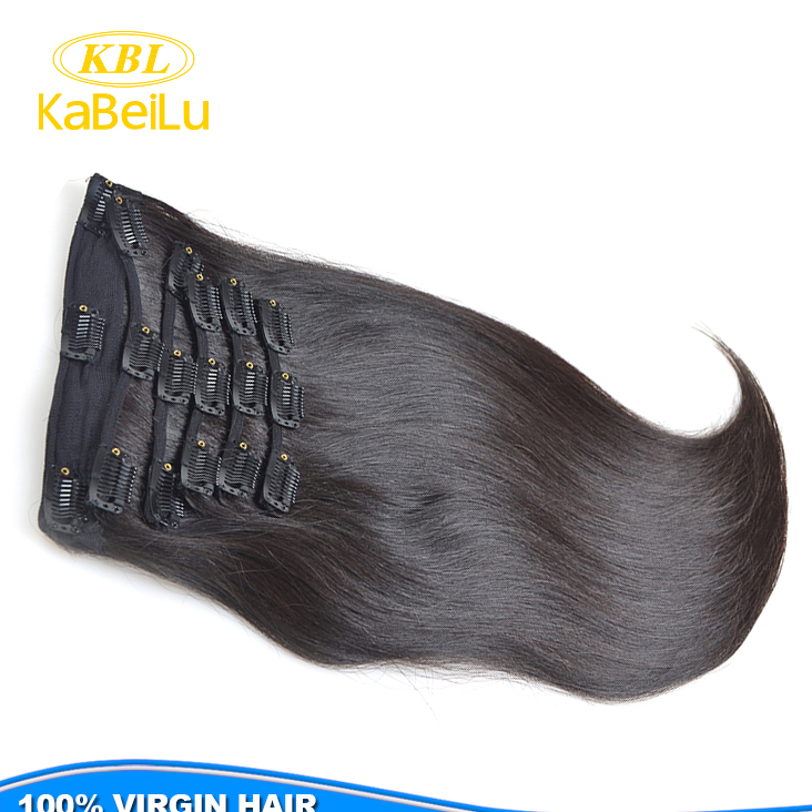 Cheap Straight remy 100% human hair clip in hair extensions free sample,wet and wavy clip in hair extension for african american