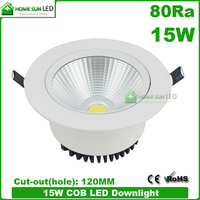 1500lm 80CRI 220V dimmable LED downlight 15W