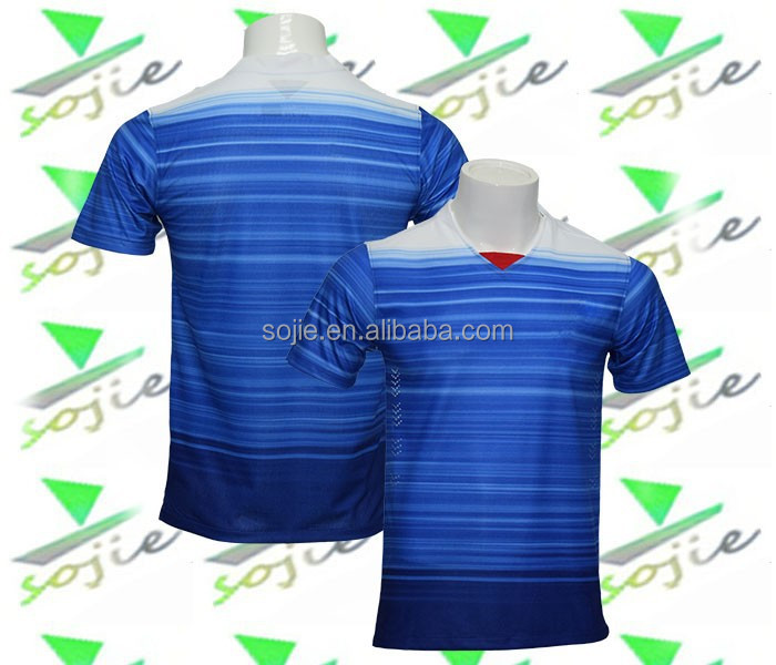 wholesale newest 2015 national team blue jersey thai quality, soccer jersey manufacturer grade original
