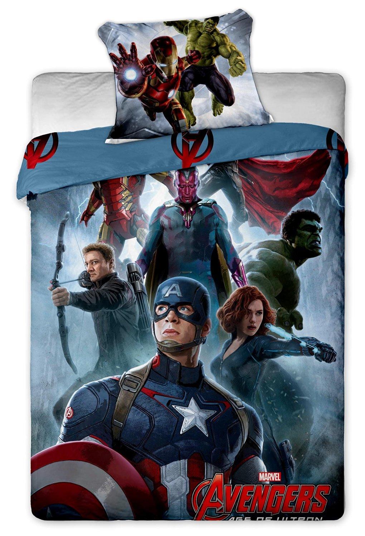 Marvel Avengers Captain America Single Duvet Cover Set 100% Cotton By BestTrend®