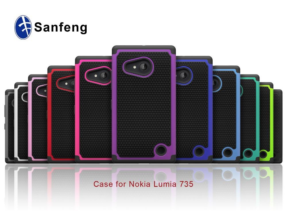 Ballistic Defender Combo Case For Nokia 735 Lumia 730 Colorful ...