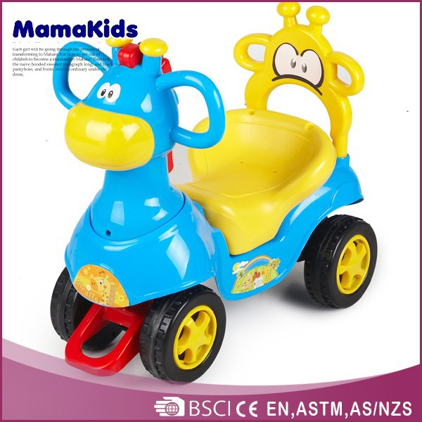 Musical children ride on car 4 wheels plastic kid toy vehicle
