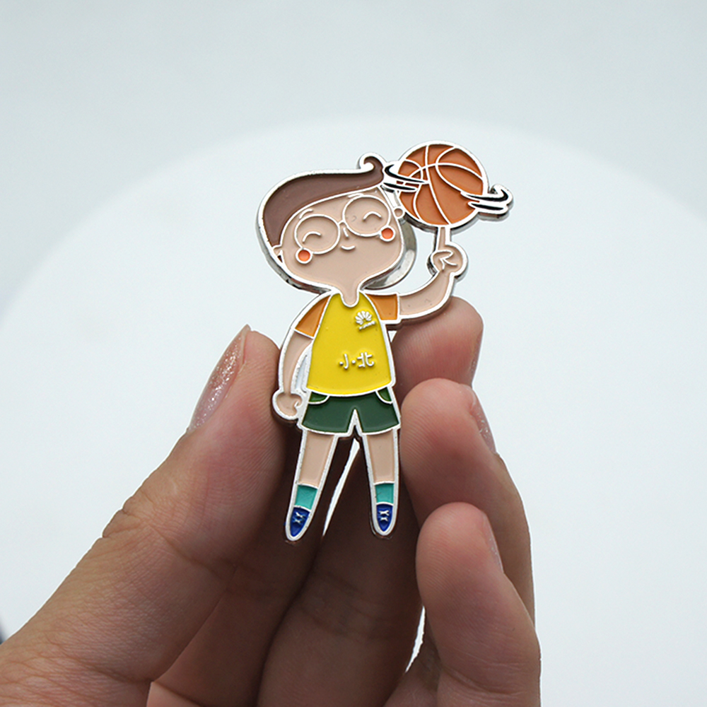 Hoge Kwaliteit Decoratieve Custom Metal Reel Pin Badge