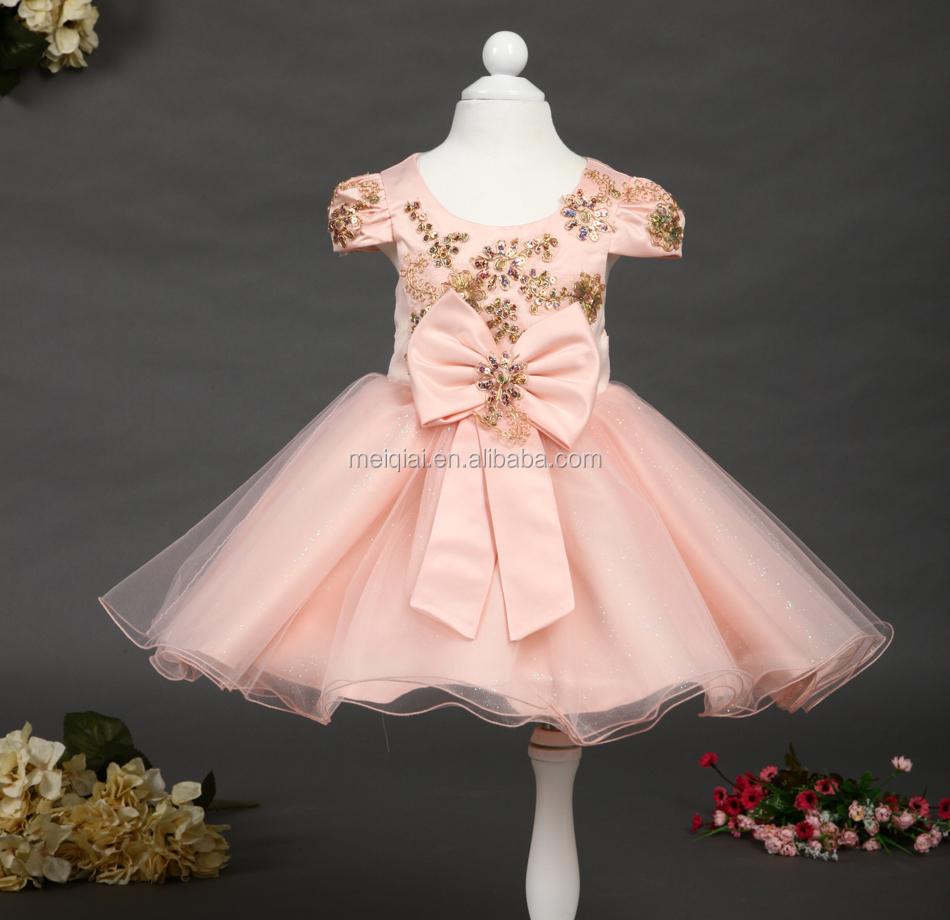 Venta al por mayor estilo princesa vestidos de niña de las flores ...
