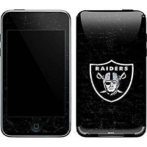 NFL Oakland Raiders iPod Touch (2nd & 3rd Gen) Skin - Oakland Raiders Distressed Vinyl Decal Skin For Your iPod Touch (2nd & 3rd Gen)