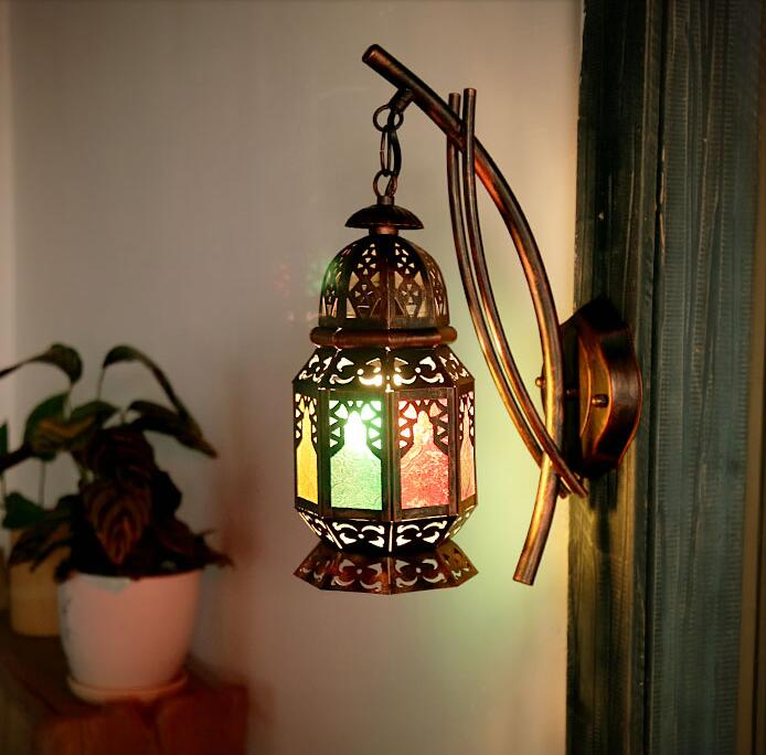 Moroccan Style Mosaic Design Lamp Home Decor Wall Sconce Light