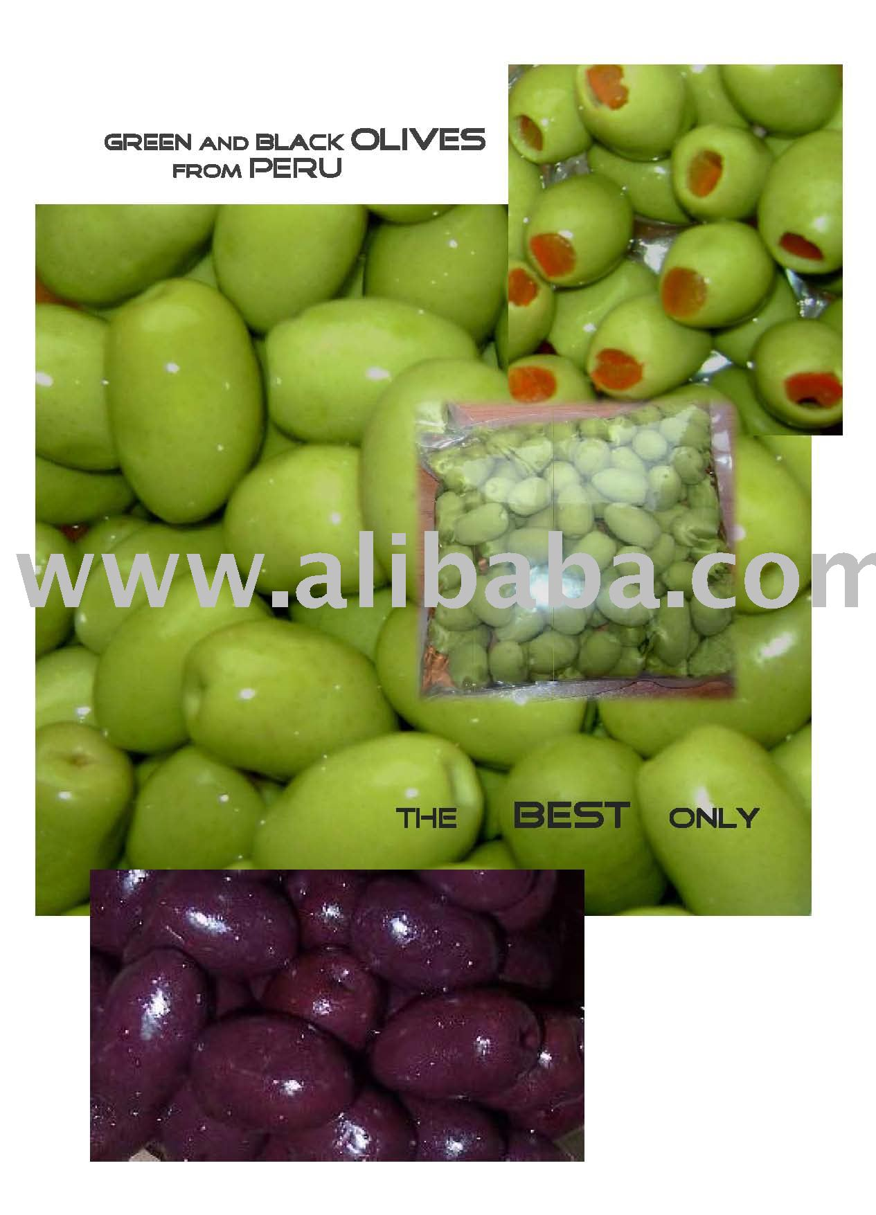 Best GREEN and BLACK OLIVES from Peru
