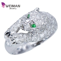 Diamond White Gold Womens Panther Ring