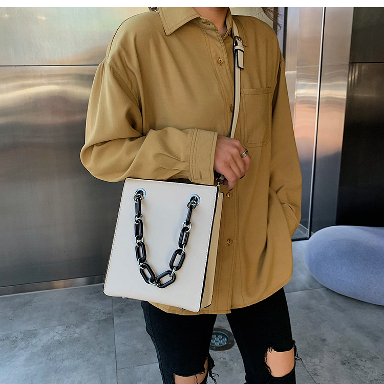 RKY0603 Simple single shoulder big female 2019 new fashion lady Korean version chain cross-body large capacity texture tote bag-1