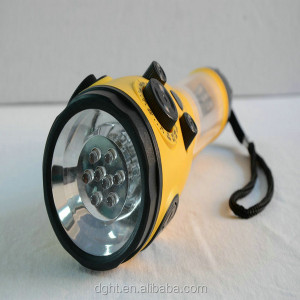 High quality flashlight Mobile charger LED AM/FM/WB band hand rechargebale radio