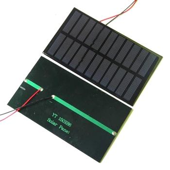 BUHESHUI 1.6 W 5.5 V Piccolo Pannello Solare Mini Pannelli Solari +  Nero/Rosso Fili