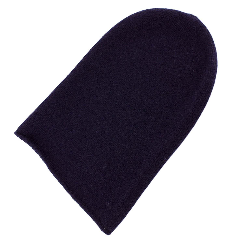8e961e5b849e1 Get Quotations · Love Cashmere Mens 100% Cashmere Beanie Hat - Dark Navy -  Hand Made in Scotland