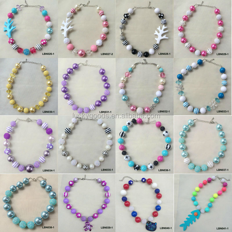 Wholesale Latest Design Colorful Plastic Bubblegum Bead Necklace ...