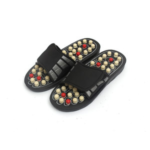 Reflexology Natural Stone Acupoint Foot Massager Slipper