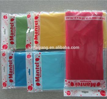 disposable PE plastic dining table cover/tablecloth table cloth